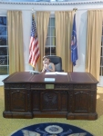 Sawyer in the oval office