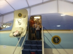 Family on mock Airforce 1