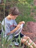 Sims working on his nature study