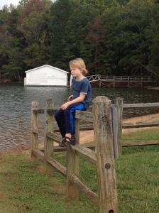 Parks enjoying the peaceful lake.