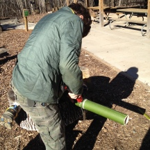 Cutting the bamboo