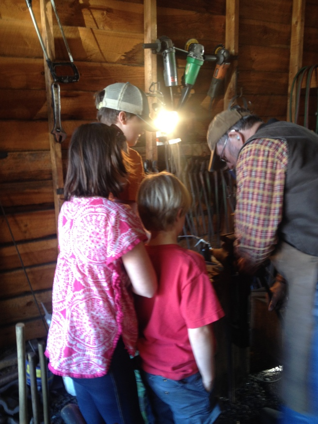First trip to the blacksmith shop.