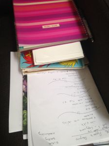 Planner with books
