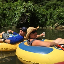 Relaxing down the river!