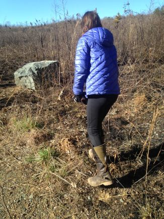 Checking out the recently burned prairie
