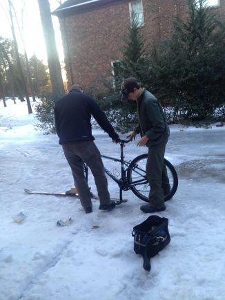 """Inventing a """"ski"""" bike"""