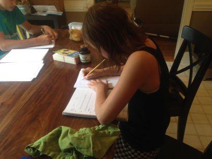 Sawyer working on grammar