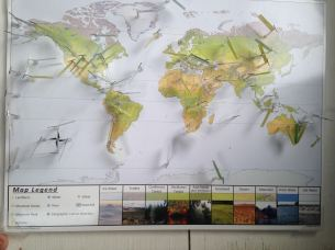 We discussed some world geology using the pin-it maps