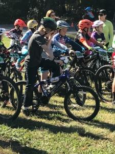 Start line of Mountain bike race