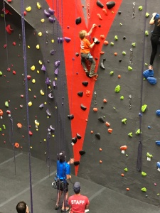 Sims belaying Parks