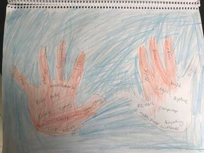 Parks' hands