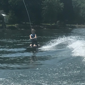 Old school knee boarding