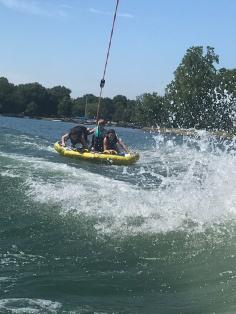 Lake tubing