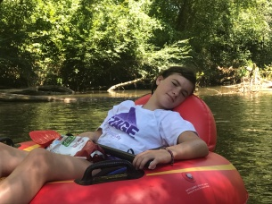 Relaxing on the river