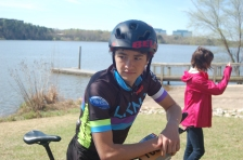 Sims on the Lake Norman Composite mountain bike team