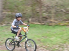 Sims in his first mountain bike race