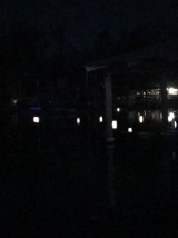 Lanterns on the lake at night