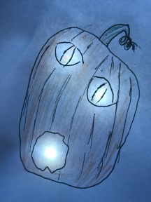 The glowing paper pumpkin!