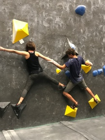 Partner boulder problem with Sawyer.