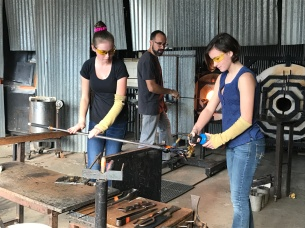 Glasswork requires teamwork