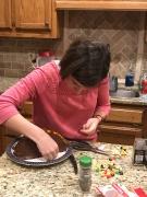 Making her cake