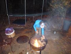 Fire pit preparation