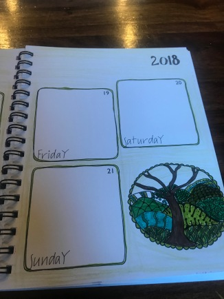 My journal work-this is what I do while I am waiting to be needed by the kids.