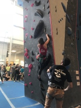 Sawyer on her final climb