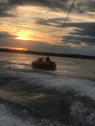 Tubing into the night!
