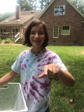 Releasing a butterfly