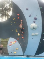 One of his favorite routes on the wall.