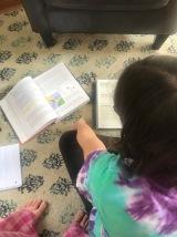 Sawyer working on science