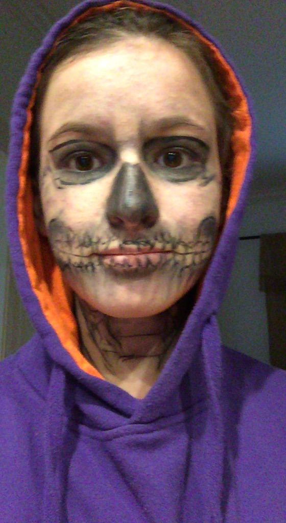 Sawyer's make up work for Halloween