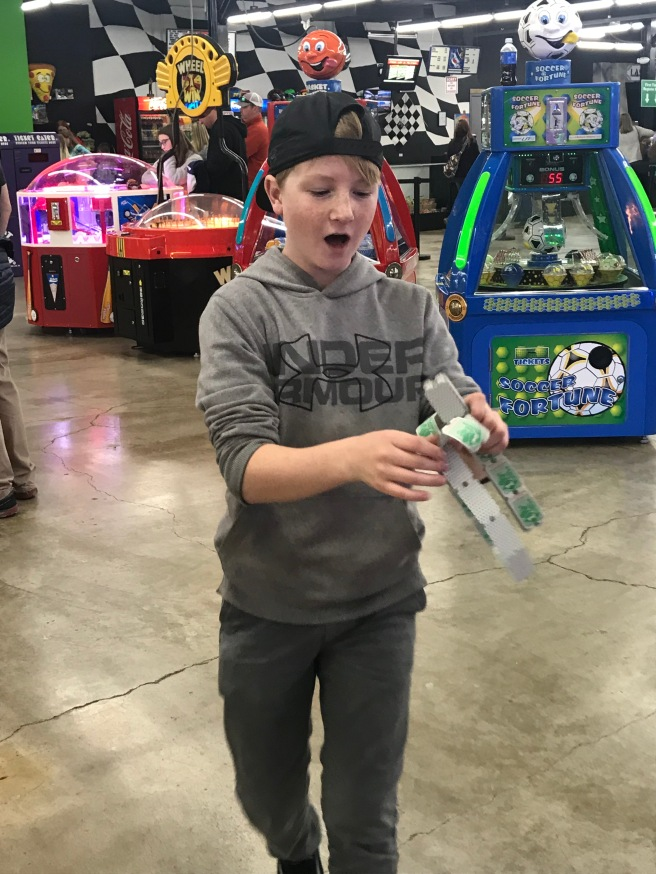 Lots of tickets from playing games!