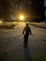 Night sledding