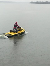 First official jet ski outing with her new license