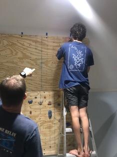 New climbing wall going up