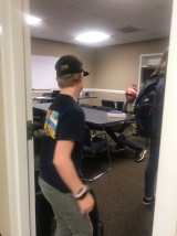 Heading into class