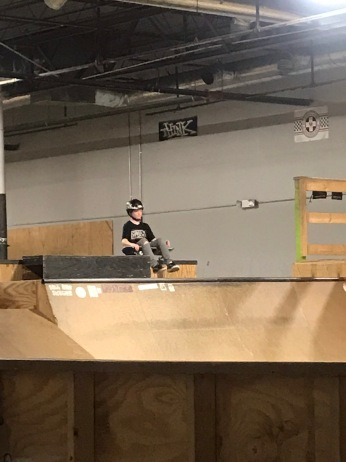 Parks has also been at the skate park