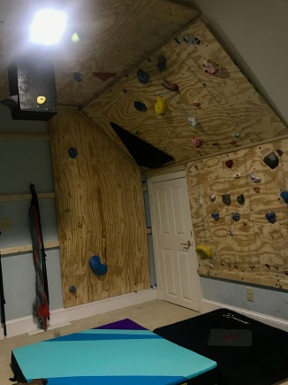 The climbing wall is complete!
