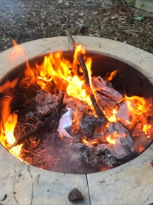 Burning of this year's work!