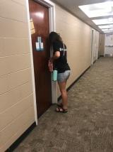 Ih her dorm