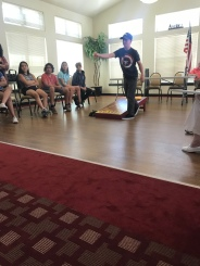 Playing corn hole