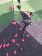 Climbing hard!