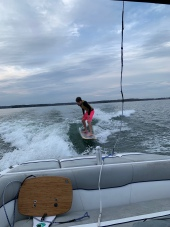 Crazy kid-surfing in the COLD!